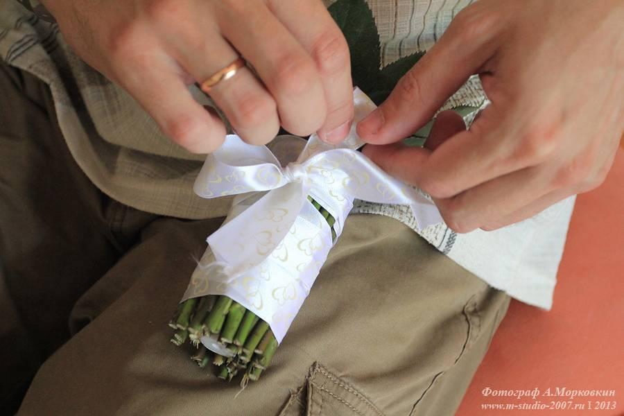 Как сделать свадебный букет пошаговая 174