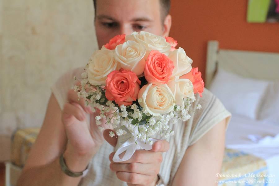 Как сделать самим букет для невесты 102